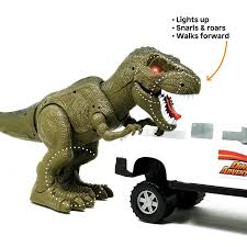 100 Dinosaur Truck Boley Walking TRex And Explorer Walking And LightUp Toy And