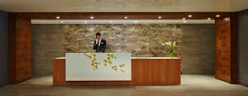 Lobby And Front Desk We Install Construction Management Modern Hotel Reception