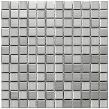 Home Depot Wall Tile Sheets by Merola Tile Alloy Square 11 7 8 In X 11 7 8 In X 8 Mm Stainless