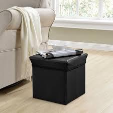 en casa sitzhocker schwarz 30x30x30cm sitzwürfel aufbewahrungsbox hocker truhe