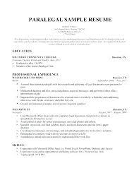 Legal Assistant Resume Cover Letter Secretary Duties