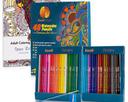 48 Colored Pencils With Adult Coloring Book Blending Brush And Pencil Sharpener