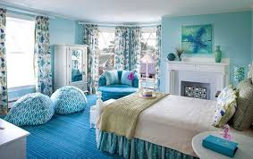 Blue Tie Dye Bedding by Teenage Bedroom Ideas Blue And Colorful Teen Bedroom Inspiration