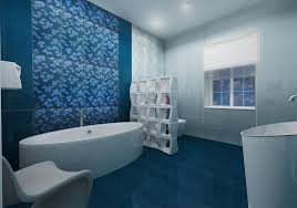 bathroom modern bathroom wall tile design with blue floral