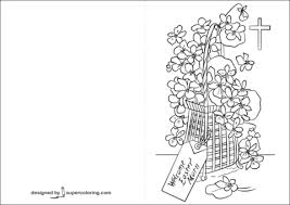 Click To See Printable Version Of Welcome Easter Morn Card Coloring Page