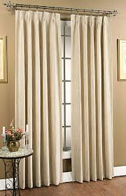 Decorative Traverse Rod With Clips by Tuscan Pinch Pleat Foam Back Panel Pair Beige Stylemaster
