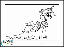My Little Pony Princess Cadence Coloring Pages For Kids And