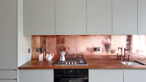 Copper Splashbacks Look Striking But Can Be Hard To Maintain