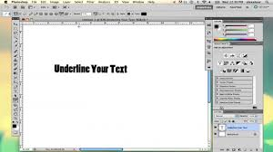 Text Decoration Underline Thickness by How To Underline Text In Photoshop Using Adobe Photoshop Youtube