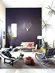 Decoration Dark Purple Living Room Color Passion Bold Painted Accent Walls Grey And Wall Ideas