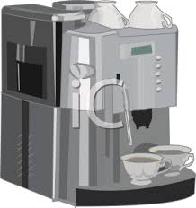 Royalty Free Clip Art Image Restaurant Style Coffee Maker