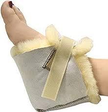 soft warm real sheepskin heel protectors genuine medical sheepskin