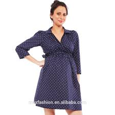 polka dots wrap dress maternity wear wholesale pregnant women
