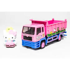 100 Pink Dump Truck Sanrio Hello Kitty DieCast 6 Inch Genuine License