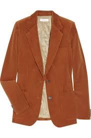 chloé corduroy jacket in orange lyst