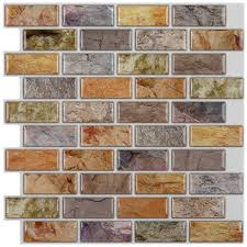 kitchen backsplash peel and stick glass tile self adhesive