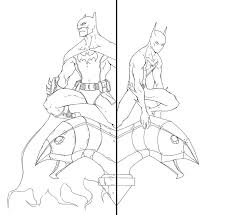 Batman And Beyond Lineart By Anny D On Clipart Library
