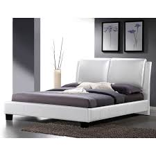 White Headboards King Size Beds by Sabrina White Modern King Size Bed With Overstuffed Headboard