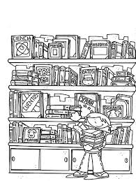 Library In Science Section Coloring Pages