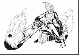 Spectacular Ghost Rider Coloring Pages With