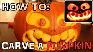 Funny Pumpkin Carvings Youtube by How To Carve A Scary Pumpkin For Halloween With Knife Only No