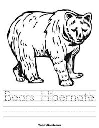 Bears Hibernate Worksheet From TwistyNoodle Coloring Pages To Print Animal
