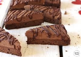 Triple chocolate brownie mousse cakes