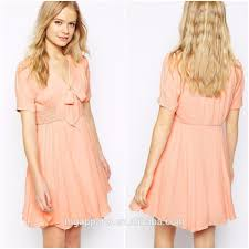 100 polyester nice design clothes women casual dress party