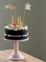 Rustic And Natural Birthday Cake
