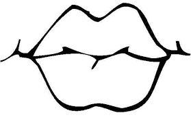 Lips Black And White Coloring Pages Free Download Clip Art On