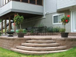 Menards Patio Block Edging by Retaining Wall Steps Album 1