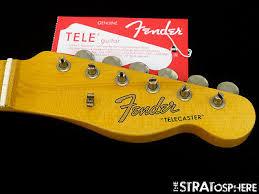 Fender Custom Shop Postmodern Relic Telecaster NECK TUNERS Tele Maple 57