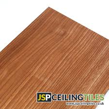 a suspended ceiling tile with romana cherry wood design from jsp