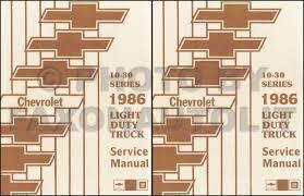 1986 Chevy Truck Repair Shop Manual Original Pickup Blazer Suburban ...