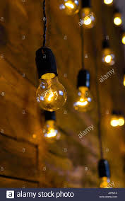 antique filament light bulbs yellow edison light bulbs stock