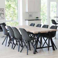 scandi stühle mit dunkelgrauem stoff grenada 2er set