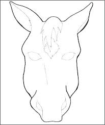Realistic Horse Coloring Pages Info Head Free Face Animal Page For Kids