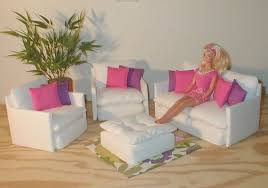 barbie size dollhouse furniture living room with tv dvd set show