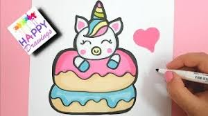 Drawing And Painting How To Draw Cute Unicorn