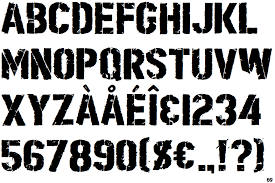 stencil fonts Enderaltypark