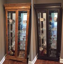 Pulaski Corner Curio Cabinet 20206 by Oak Curio Cabinet Before And After Using Annie Sloan Chalk Paint