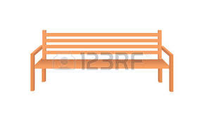 Wooden Park Bench Brown Wooden Bench Icon e Isolated Outdoor