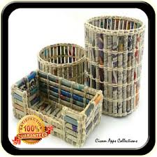 Recycled Newspaper Craft Idea
