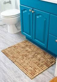 basteln mit korken badematte selber machen anleitung