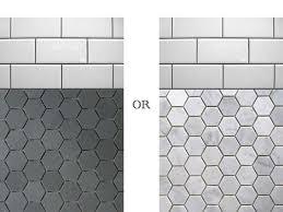marvelous hexagon ceramic bathroom tile with modern home interior