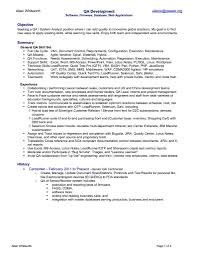 Quality Assurance Analyst Resume Sample Enchanting Samples For