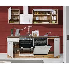 respekta küchenzeile bekb220ewc 220 cm weiß wildeiche nachbildung