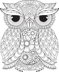 Owl Coloring Pages Photo In For Adults