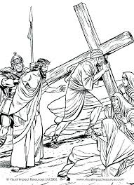 Charming Coloring Pages Of Jesus On The Cross Kids Page From Whats In Bible Showing