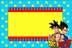 Dragon Ball Z Decorations by Dragon Ball Z Free Printable Invitations Oh My Fiesta For Geeks